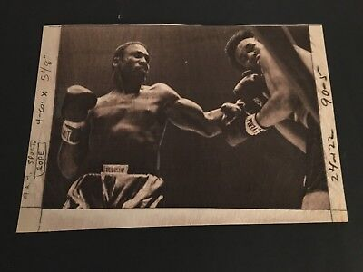 1968  JOE FRAZIER VS  MANUEL RAMOS   ORIGINAL TYPE ONE PHOTO