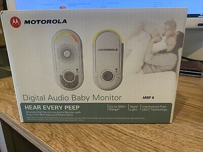 Motorola Digital Audio Baby Monitor MBP8