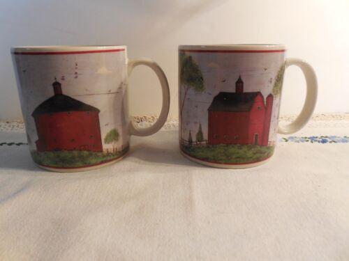 2 Sakura  BARNS by Warren Kimble  1998 12 oz Mugs
