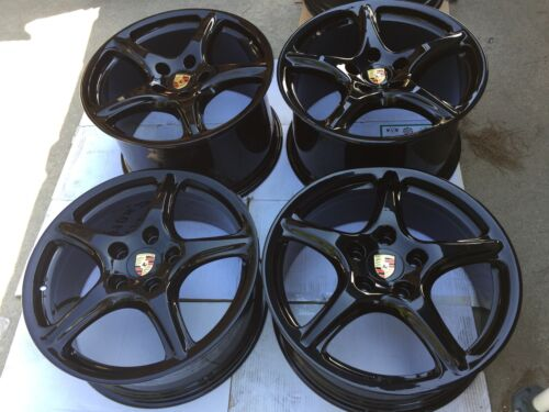 "19"" NEW OEM FACTORY ORIGINAL PORSCHE 997 ""BLACK EDITION"" WHEELS 911 993 996 998."