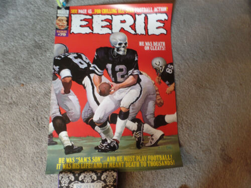 Oakland Raiders 1976 Warren Magazine Creepy  20x28 #79 color Poster