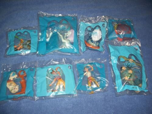 Raya and The Last Dragon Mcdonald's Disney Happy Meal Toys Complete Set Of 8