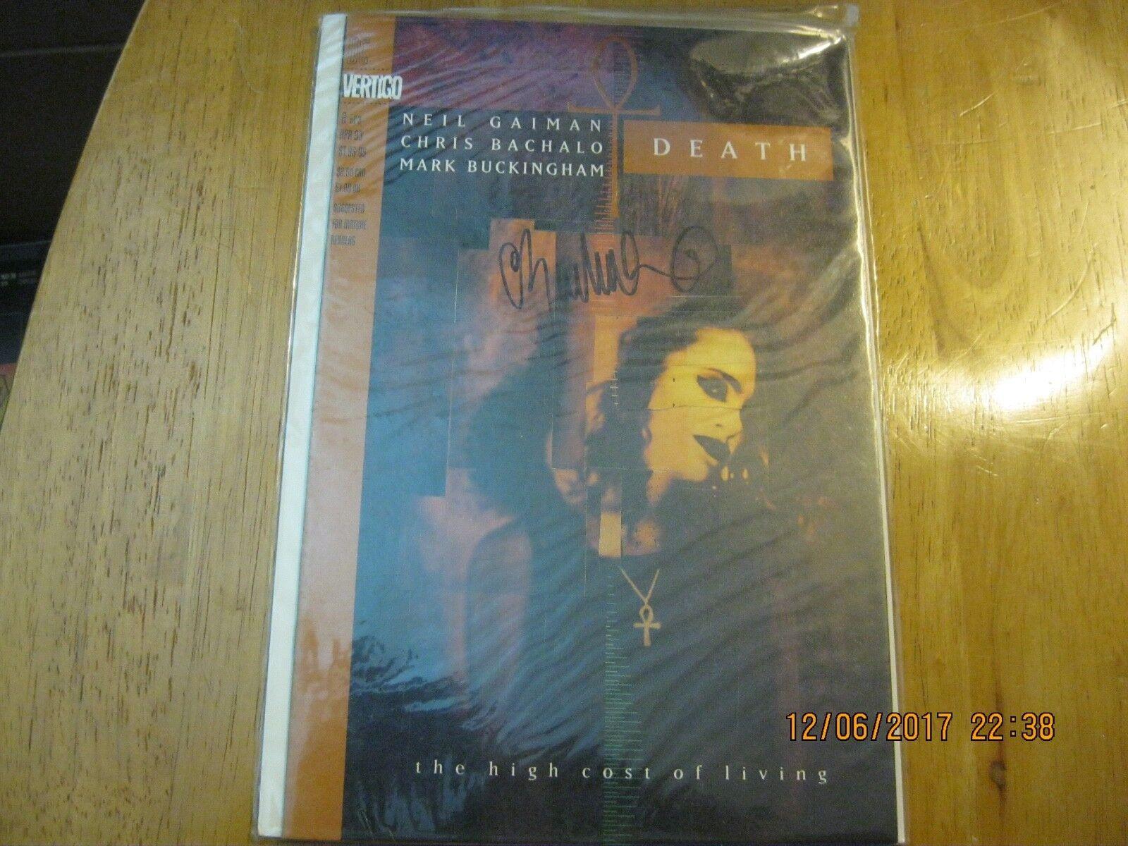 Death The High Cost Of Living 2 Of 3 - DC Vertigo - SIGNED By Chris Bachalo - $15.00