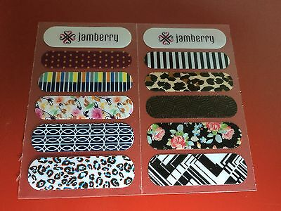 Fall Accents (2 Jamberry Wrap Sample Cards - All 10 New Fall/Winter 2014 Accents - Retired )