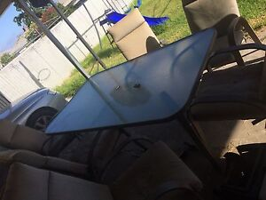6 person outdoor table set Pennington Charles Sturt Area Preview