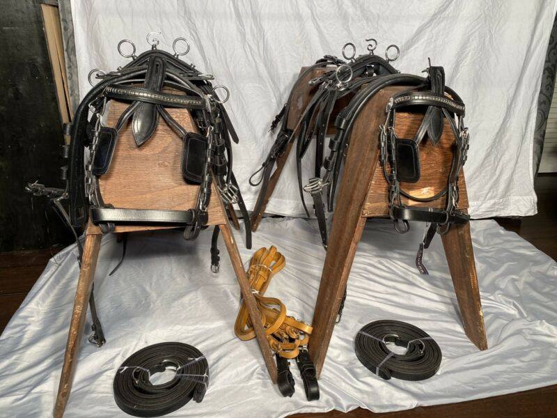 Leaders Worldwide Mini Shetland Leather Pair Harness!