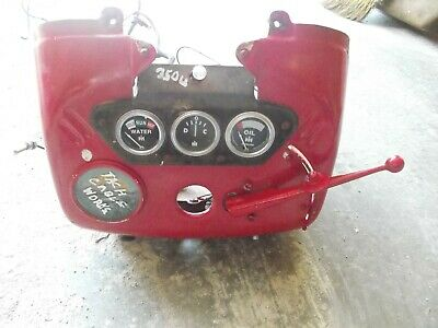 International 350 Utility Tractor Ihc Ih Dash Cover Emblems Throttle Tachometer