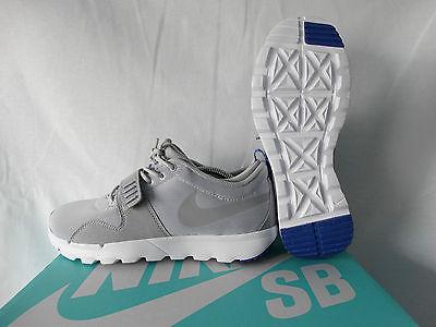 Nike SB Trainerendor Skaterschuhe Sneaker 616575-041 grau-weiß EU 41 US 8