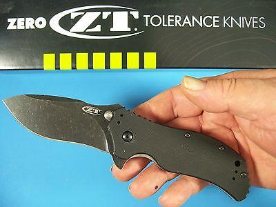 ZERO TOLERANCE usa 0350BW SPRING ASSIST knife S30V Blackwash G-10 Ken Onion ZT