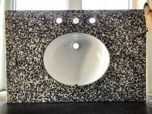 Granite counter top with sink bowl for bathroom