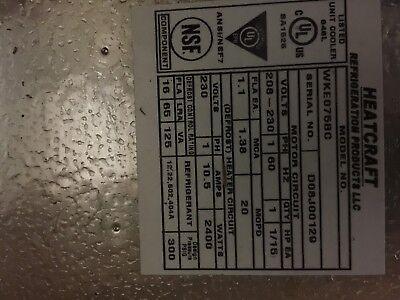 Overstock Heatcraft Wke075bc 2301 Evaporator Center Mt. Elec. Defrost Low Flow