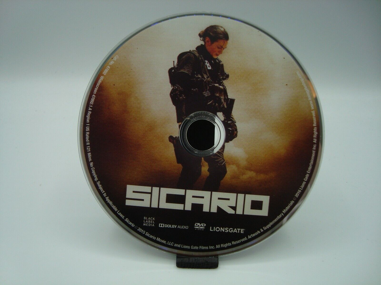 Sicario DVD DISC ONLY  - $3.50
