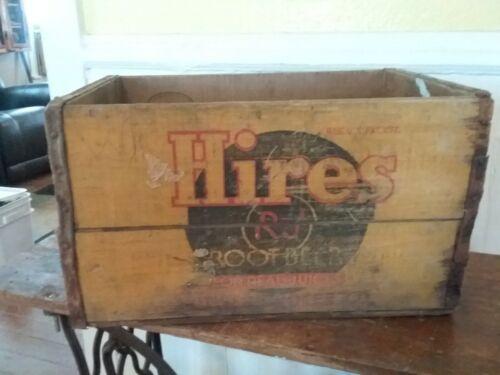 Vintage Hires Root Beer Soda Pop Wooden Crate