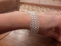 Brand Silver Plated 925 Stamped Wide Fancy Link Bracelet With A Gift Box -  - ebay.co.uk