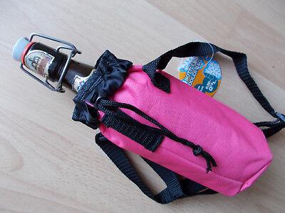 Kühltasche für Bierflasche, Kühlbeutel 0,5l, Größe 8cm x 20cm, Rosa ()