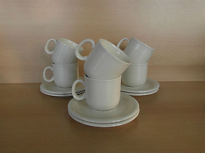 6 tasses à café + sous tasses Veni Royal Boch Pieter Stockmans