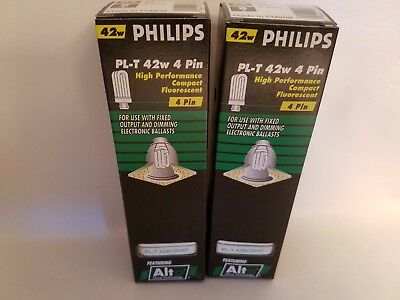 42w Compact Fluorescent Lamp - Lot 2 Philips PL-T 42W/35/4P 42W 4 Pin Compact Fluorescent Lamp Light Bulb Alto
