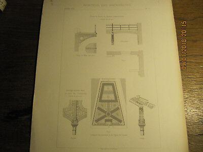 Planche Maison d'arrêt et de correction Rue de la Santé Paris 1874