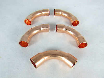 Copper Fitting Elbow 38 Id-90 Degree-long Radius-5 Pcs