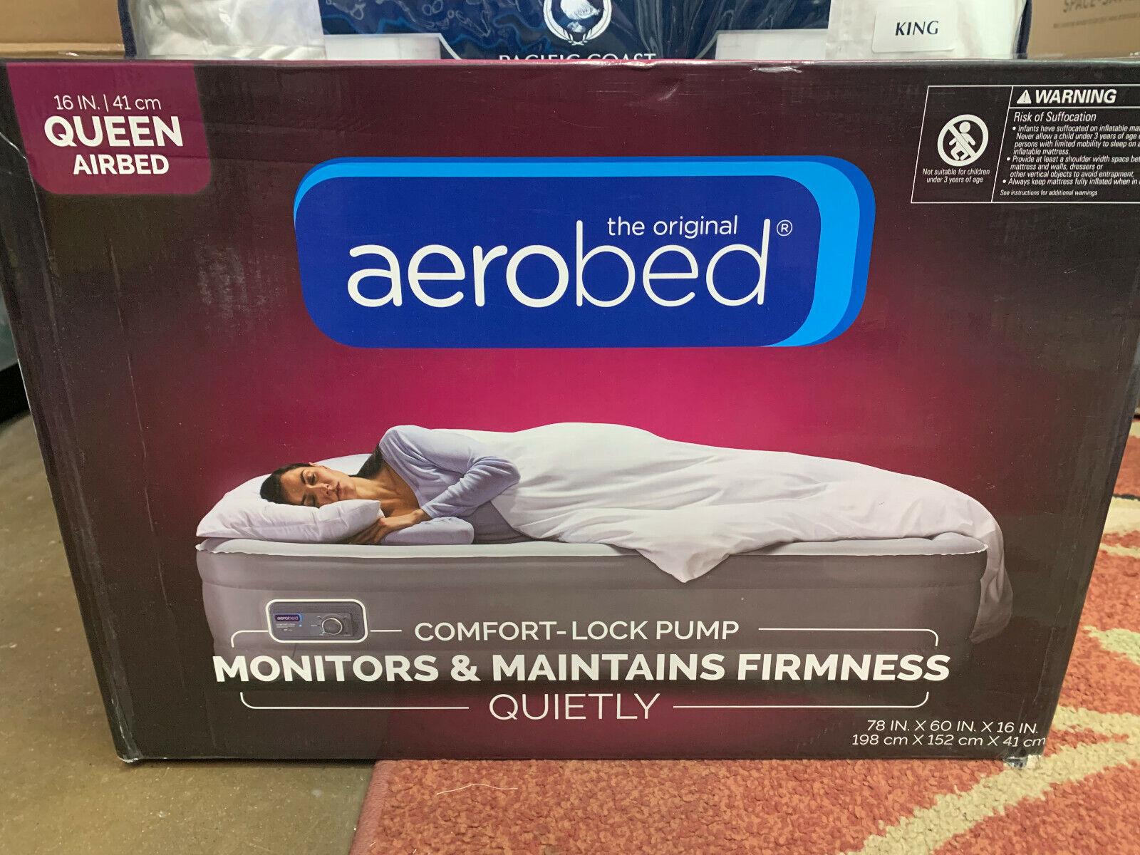 AeroBed Comfort Lock Queen Air Mattress, 78 x 60 x 16 in Inf