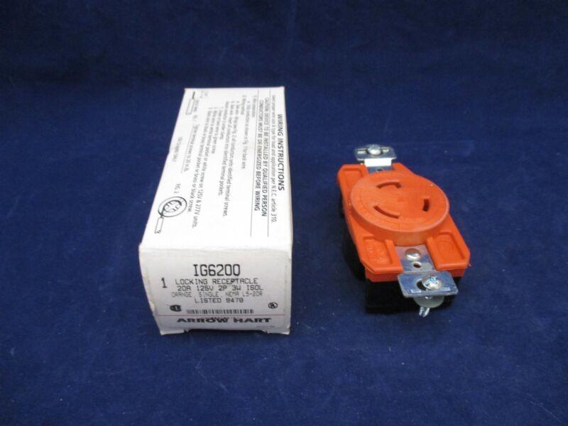 Arrow Hart Locking Receptacle IG6200 NEMA L5-20R new
