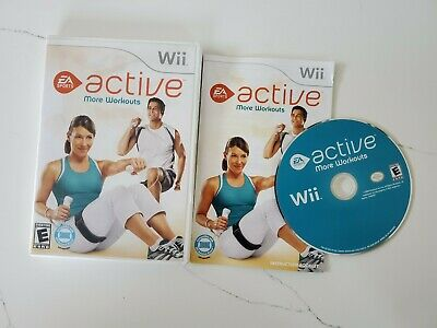 EA Sports Active More Workouts (Nintendo Wii 2009) Orig Case, Manual & Game