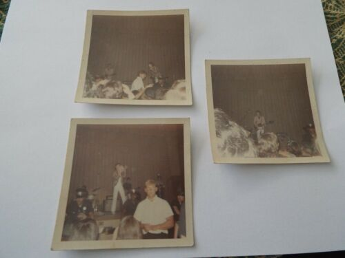3 Original Photos from the Rolling Stones Asbury Park Convention Hall July 1966