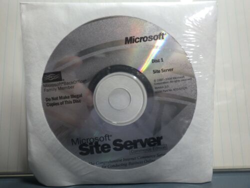 Microsoft Site Server Commerce Edition version 3.0  w/ CD Key (Sealed/Unused)