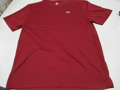 NWT MEN'S LACOSTE SPORTS SUPER DRY SS TENNIS CREW (DK RED) TH5228. $60