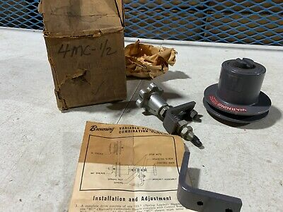 One Browning 4mc 12 Variable Speed Pitch Combination Drive Pulley Complete Nos
