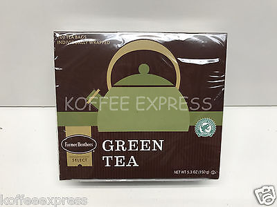 Farmer Brothers Hot Tea Bags - Green Tea, 100 count - Individually Wrapped ()