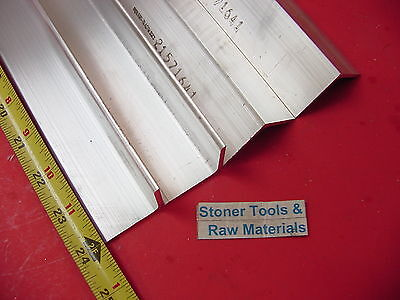 4 Pieces 1-12x 1-12x 18 Aluminum 6061 Angle Bar 24 Long T6 Mill Stock
