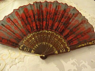 Fächer Handfächer Flamenco Karneval Tanz Kostüm Zubehör Spanien Showtanz - Tanz Kostüm Zubehör