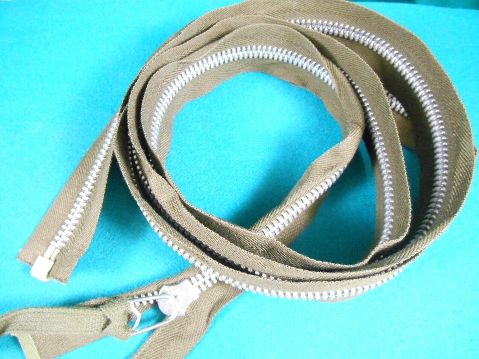 29 inch Beige /& Aluminum #10 Heavy Duty Separating Lenzip Zipper NOS