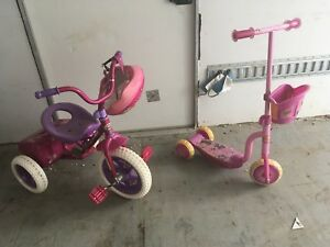 Girls Tricycle & Scooter