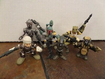 Bounty Hunters Boba Fett, Bossk 4-LOM Dengar, IG88, Zu,Star Wars Galactic -