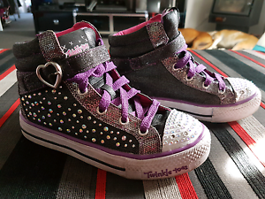 Sketchers twinkle toes high tops Margate Kingborough Area Preview