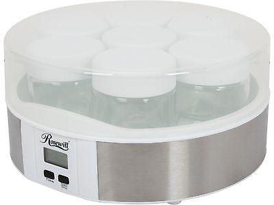 Rosewill RHYM-13001 7 Glass Cups Digital Yogurt Maker, Healthy