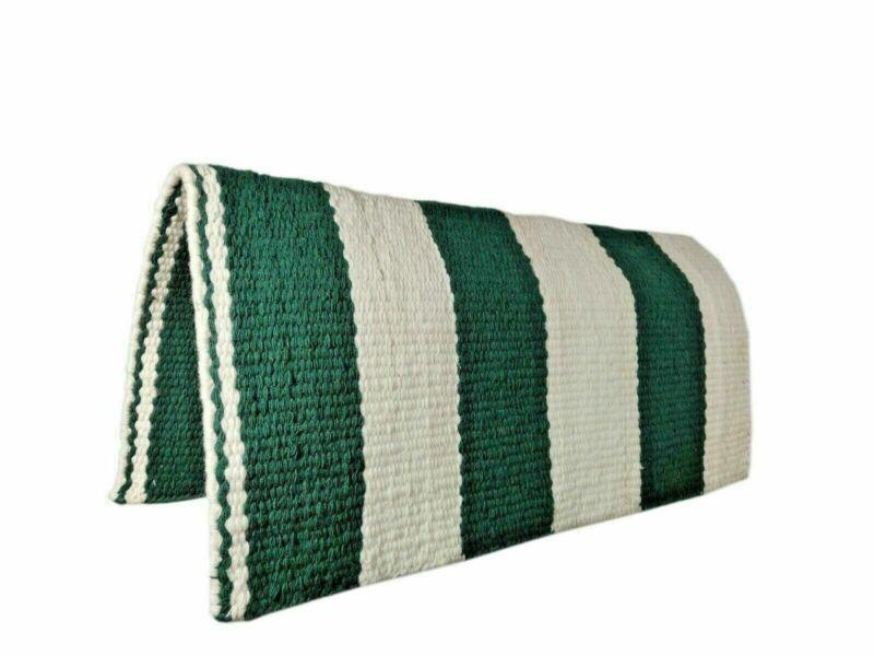 Hand Woven Custom Saddle Blanket Woolen Western Premium Show Rodeo Ranching Fun