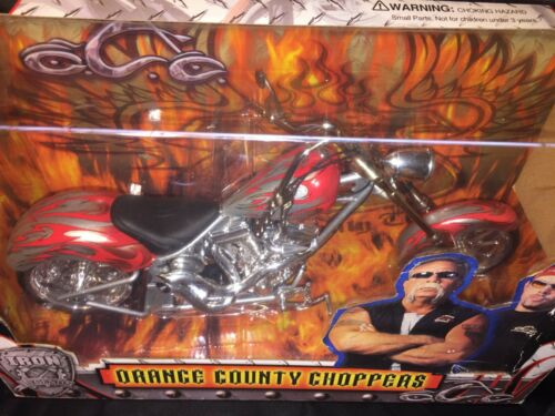 Orange County Choppers Diecast Toy Zone Silver & Red Flame Bike