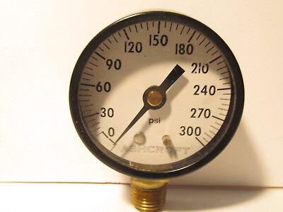 Ashcroft 0-300 Psig Pressure Gauge 14 Npt Bottom Mount - 2 Dial - New Usa