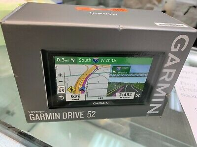 "Garmin DRIVE 52 5"" GPS Navigator 010-02036-06 usa maps  brand new"