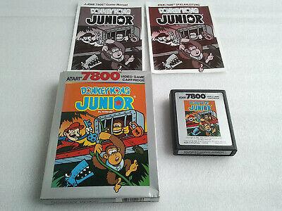 Boxed Atari 7800 Game Donkey Kong JR (PAL UK) Loads Fine