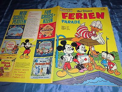 MICKYVISION  1968  ,  Heft 10  ( 2. Serie )  , FERIEN PARADE , W. Disney COMIC
