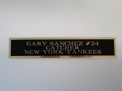 Gary Sanchez Yankees Autograph Nameplate For A Baseball Bat Or Jersey Case 1.5X6