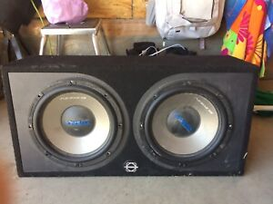 Two ten inch subwoofers and box