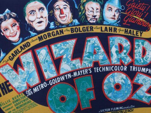 Wizard of Oz Movie Fabric Cloth Panel 1982 Wesco Veltex