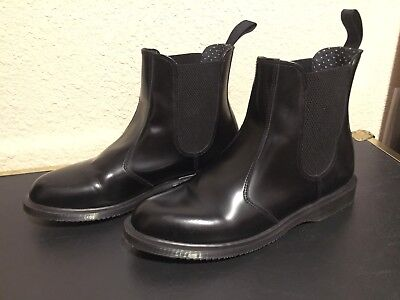 Doc Martens Martens Womens Flora Smooth Black Chelsea Ankle Boots Us Size 10