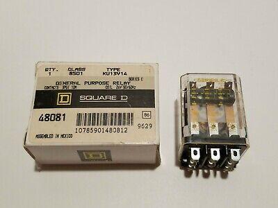 Square D Ku13v14 Relay 24 Volt Coil 3pdt 10 Amp 8501 48081 3pdt 24v