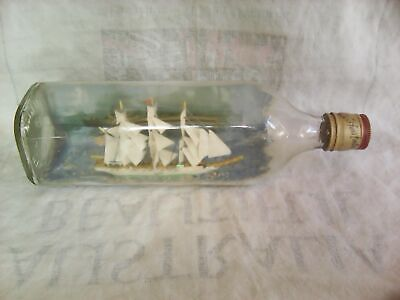 Vintage Ship in Bottle-'The Fox'-10.5""
